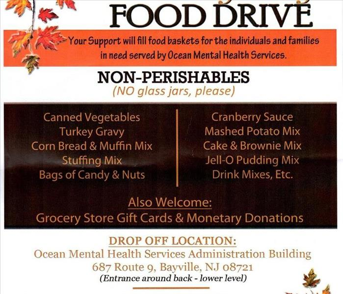 Ocean Mental Health Services Thanksgiving Food Drive