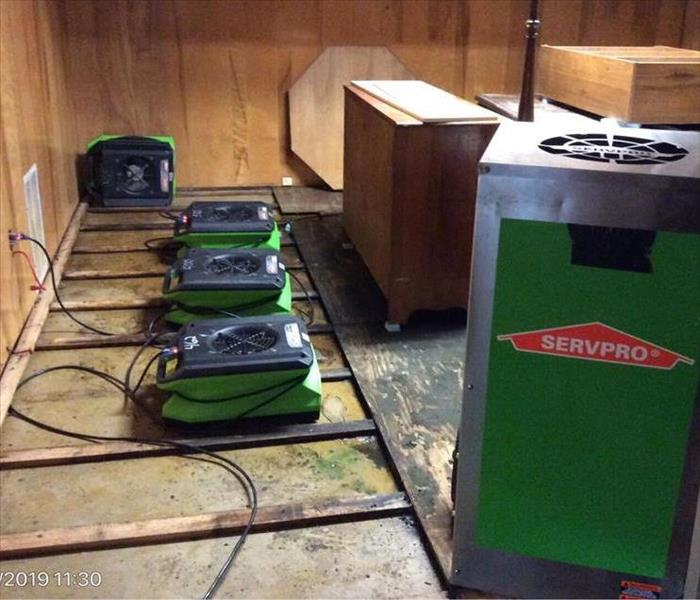 Water Damage SERVPRO of Point Pleasant Responds with Fast Action and a Full Arsenal of Drying Equipment